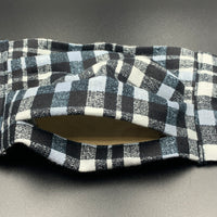 Plaid *Flannel* Cotton Face Mask with Filter Pocket (Adult Size)