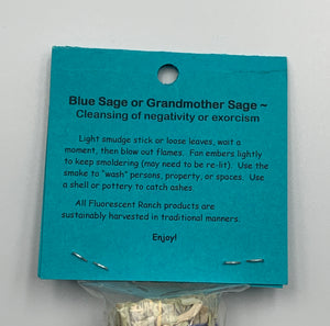 Blue Sage Bundle Smudge Stick Handwrapped Colorado USA