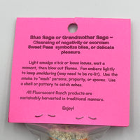 Blue Sage & Sweet Peas Bundle Smudge Stick Handwrapped Colorado USA