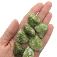Epidote (1) Polished Natural Green Tumbled Stone