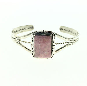 Rhodonite Silverton Colorado Local Natural Gemstone Sterling Silver Bracelet Cuff