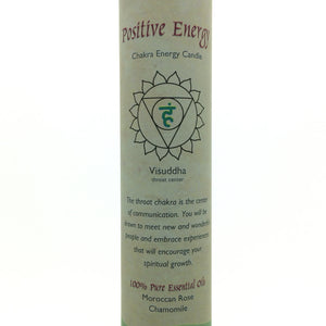 Positive Energy Blue Throat Chakra Energy Palm Wax Blend Essential Oils Scented Candle-Pillar or Jar