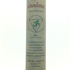 Abundance Indigo Third Eye Chakra Energy Palm Wax Blend Essential Oils Scented Candle-Pillar or Jar