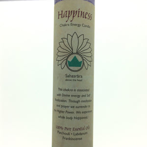 Happiness Purple Crown Chakra Energy Palm Wax Blend Essential Oils Scented Candle-Pillar or Jar