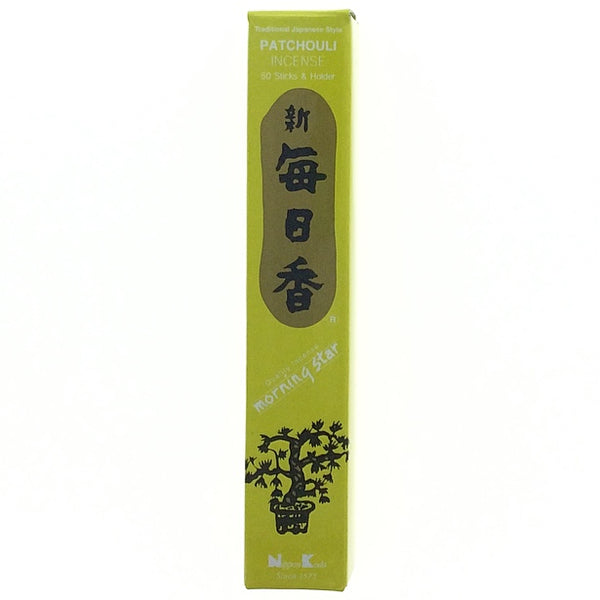Patchouli Morningstar Japanese Style Wood Free Incense Sticks-50 sticks or 200 sticks
