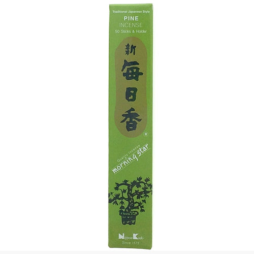 Pine Light Green Morningstar Japanese Style Wood Free Incense Sticks-50 sticks or 200 sticks