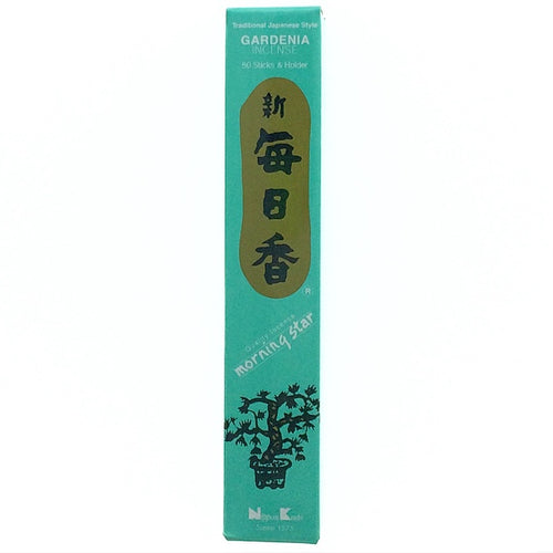 Gardenia Light Blue Morningstar Japanese Style Wood Free Incense Sticks-50 sticks or 200 sticks