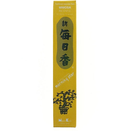 Mimosa Golden Morningstar Japanese Style Wood Free Incense Sticks-50 sticks or 200 sticks