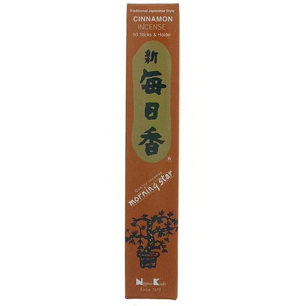 Cinnamon Brown Morningstar Japanese Style Wood Free Incense Sticks-50 sticks or 200 sticks
