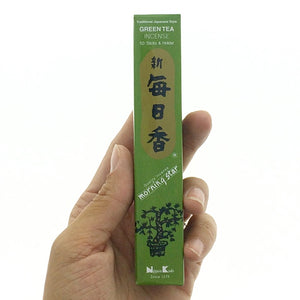 Green Tea Soft Green Morningstar Japanese Style Wood Free Incense Sticks-50 sticks or 200 sticks