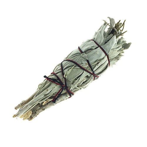 White Sage with Lavender Bundle Smudge Stick Handwrapped California USA