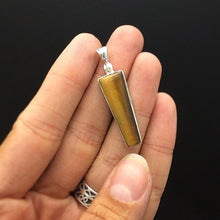 Load image into Gallery viewer, Tiger Eye Polished Golden Natural Gemstone in Sterling Silver Pendant