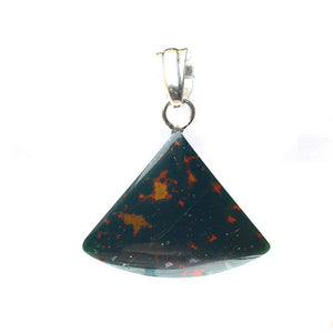 Bloodstone Heliotrope Gemstone on Sterling Silver Pendant by Tim Grasso