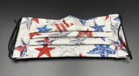 Stars 4th of July Patriotic Print Face Mask with Filter Pocket (Adult Size)