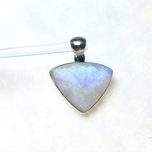 Moonstone Adularia Rainbow Goddess Avalon Gemstone Sterling Silver Pendant