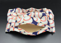 Baseball Softball Fun Sporty Print Cotton Face Mask with Filter Pocket (Adult Size)