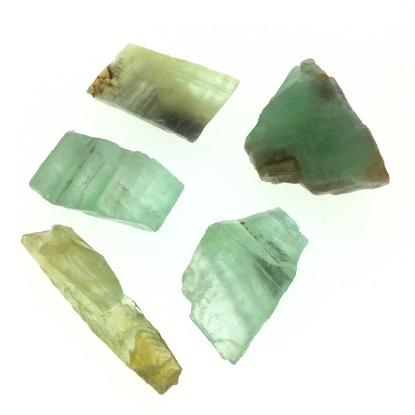 Green Calcite (1) Lime Sea Green Unpolished Raw Chunk