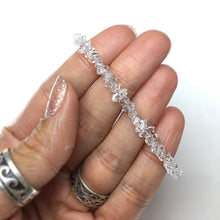 Load image into Gallery viewer, Herkimer Diamond Quartz DT Raw Crystals Gemstone Bead Sterling Silver Bracelet by Josephine Grasso