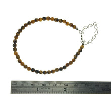 Load image into Gallery viewer, Tiger Eye Faceted Gemstone Bead Sterling Silver Bracelet by Josephine Grasso