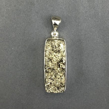 Load image into Gallery viewer, Pyrite Fool's Gold Raw Crystals Rough Cut Gemstone Sterling Silver Pendant