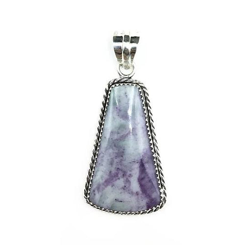 Kammererite Rare Gemstone in Sterling Silver Pendant by Tim Grasso