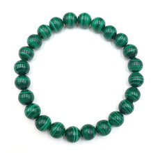 Load image into Gallery viewer, Malachite Gemstone Bead Stretch Elastic Stone Bracelet