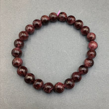 Load image into Gallery viewer, Garnet Gemstone Bead Stretch Elastic Stone Bracelet