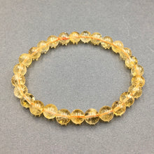 Load image into Gallery viewer, Citrine Gemstone Bead Stretch Elastic Stone Bracelet