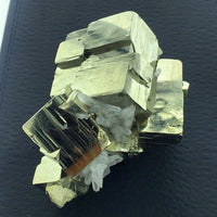 Pyrite Iron Sulfide Fool's Gold Quartz Cubic Crystals Metallic Cabinet Unpolished Crystal Cluster Peru