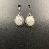 White Buffalo #1 Sterling Silver Dangle Earrings