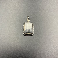 White Buffalo #4 Sterling Silver Pendant