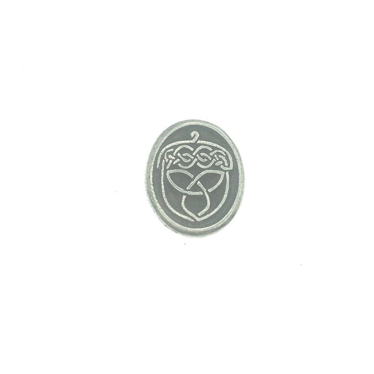 Acorn Celtic Knot Pocket Charm Lead-free Pewter Stone
