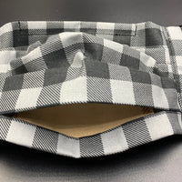 Gingham Plaid Cotton Face Mask with Filter Pocket (Adults & Kids Size Options)