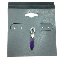 Amethyst Miniature Crystal Point Sterling Silver Pendant