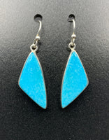 Kingman Turquoise #1 Natural Sterling Silver Dangle Earrings