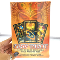 Easy Tarot Cards Kit Full Sized Deck in a Box (Deluxe Sized Tarot Deck and Workbook Set)