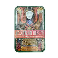 Aquarian Tarot Cards Small Deck in a Tin (Pocket Sized Travel Tarot Deck)