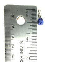Tanzanite Violet Gem Faceted Teardrop Natural Gemstone Sterling Silver Pendant