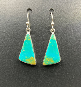 Kingman Turquoise #11 Natural Sterling Silver Dangle Earrings