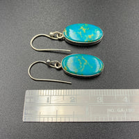 Kingman Turquoise #14 Natural Sterling Silver Dangle Earrings