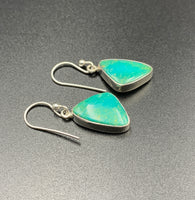 Kingman Turquoise #2 Natural Sterling Silver Dangle Earrings