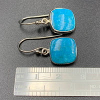 Kingman Turquoise #3 Natural Sterling Silver Dangle Earrings