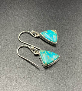 Kingman Turquoise #6 Natural Sterling Silver Dangle Earrings