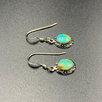 Kingman Turquoise #9 Natural Sterling Silver Dangle Earrings