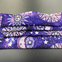 Celestial Print Cotton Face Mask with Filter Pocket (Adults & Kids Size Options)