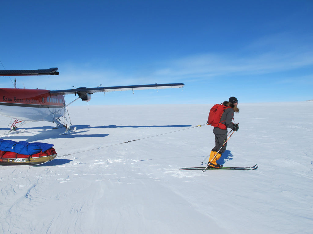 Sebastien Lapierre skies solo to the South Pole with our 28 watt charger on board!