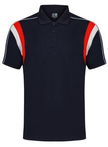 Striker Polo Gazelle Sports UK Yes XS Col A) Navy/ Red/ White
