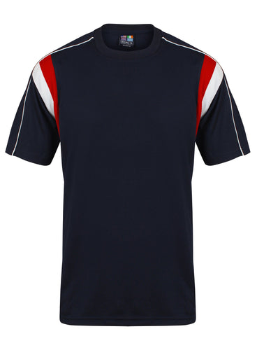 Striker Crew sports top Gazelle Sports UK Yes XS Col A) Navy/ Red/ White
