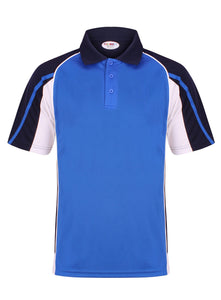 Teamstar Polo Kids Gazelle Sports UK Yes Col A) Royal Blue/ Navy/ White XSB