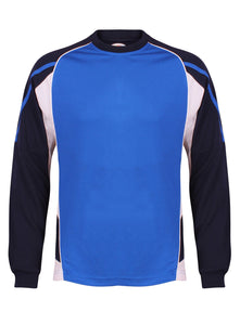 Teamstar Long Sleeve Crew Gazelle Sports UK Yes XS Col A) Royal Blue/ Navy/ White